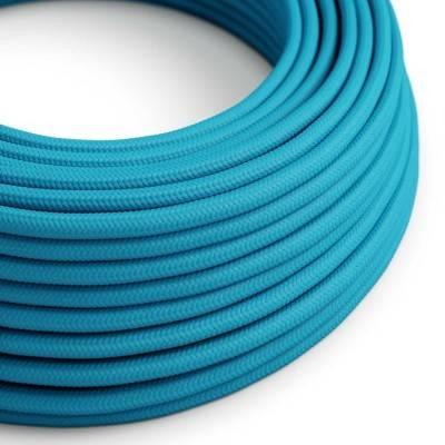 Textilkabel rund, hellblau mit Seideneffekt, RM11