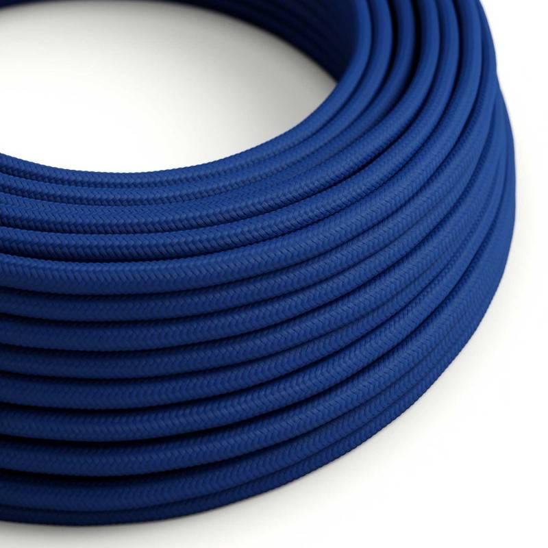 Textilkabel rund, blau mit Seideneffekt, RM12