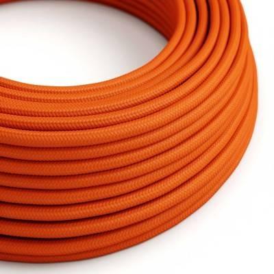 Textilkabel rund, orange mit Seideneffekt, RM15