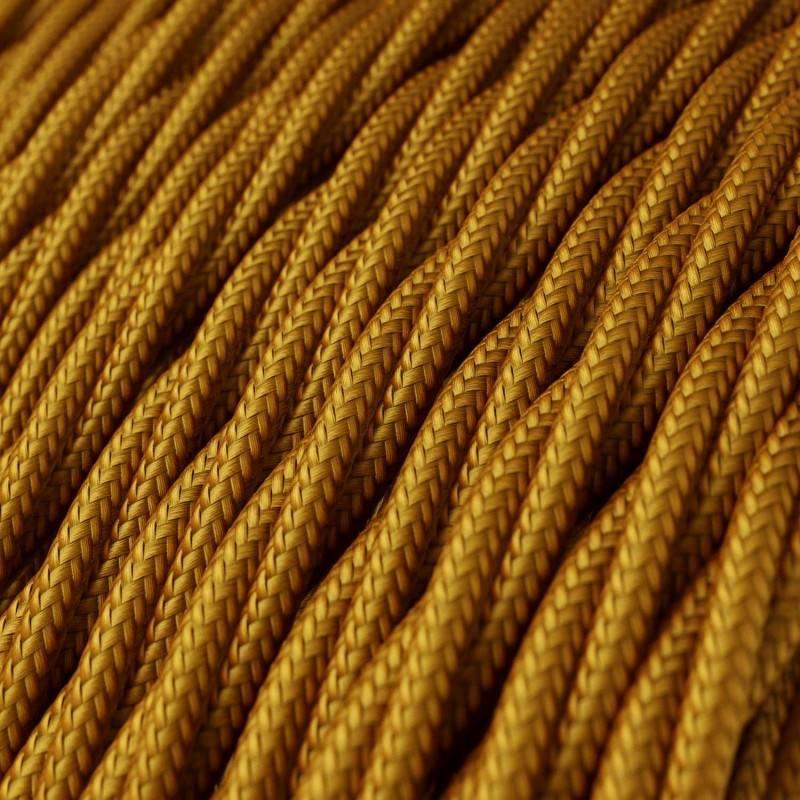 Textilkabel geflochten, gold mit Seideneffekt, TM05