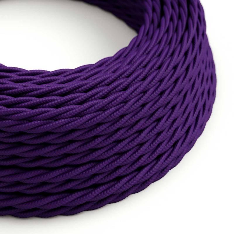 Textilkabel geflochten, violett mit Seideneffekt, TM14
