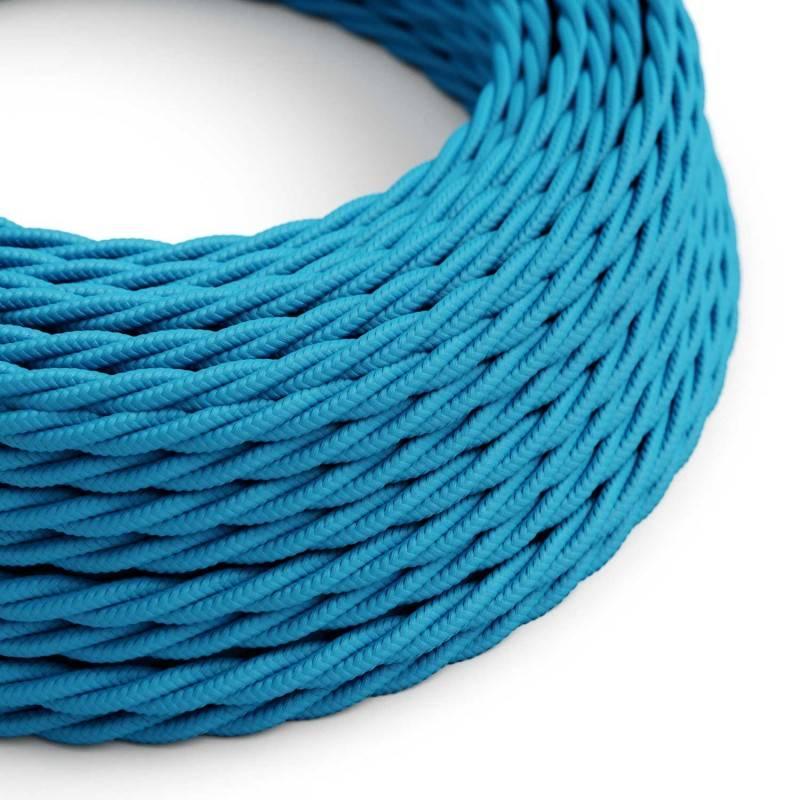 Textilkabel geflochten, türkis mit Seideneffekt, TM11