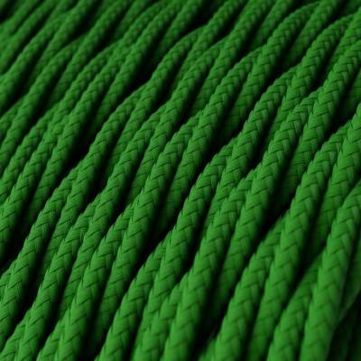 Textilkabel geflochten, grün mit Seideneffekt, TM06