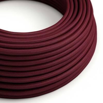 Textilkabel rund, bordeaux mit Seideneffekt, RM19