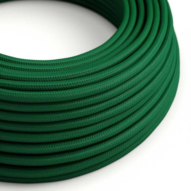 Textilkabel rund, dunkelgrün mit Seideneffekt, RM21