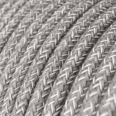 Textilkabel rund, leinen grau, RN02