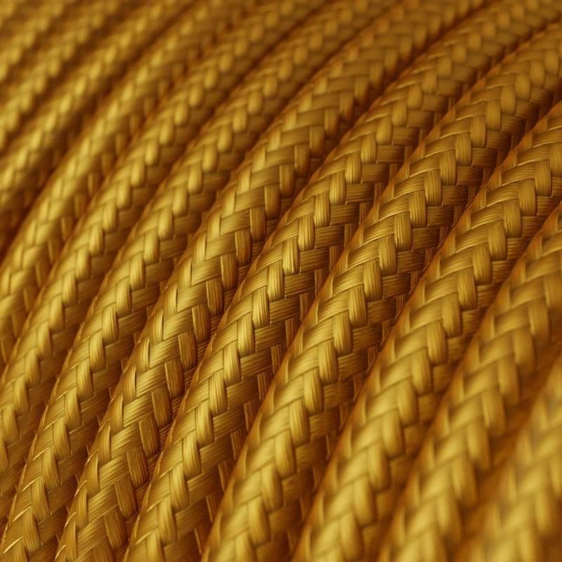 Textilkabel rund, gold mit Seideneffekt, RM05