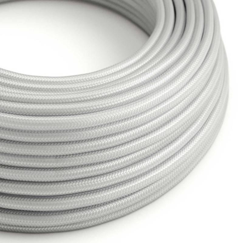 Textilkabel rund, silber mit Seideneffekt, RM02