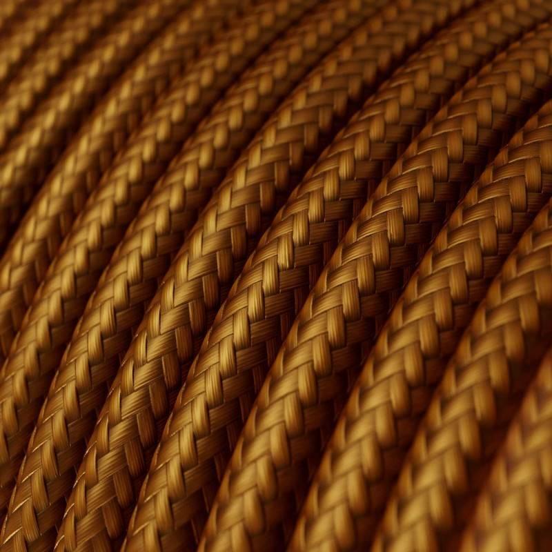 Textilkabel rund, whiskey mit Seideneffekt, RM22