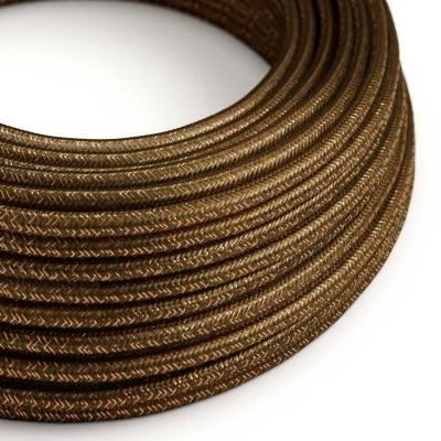 Textilkabel geflochten, braun glitzer Seideneffekt, RL13