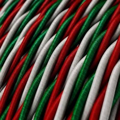 Textilkabel geflochten, italien mit Seideneffekt