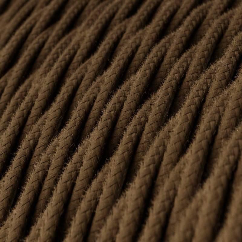 Textilkabel geflochten, braun Baumwolle, TC13