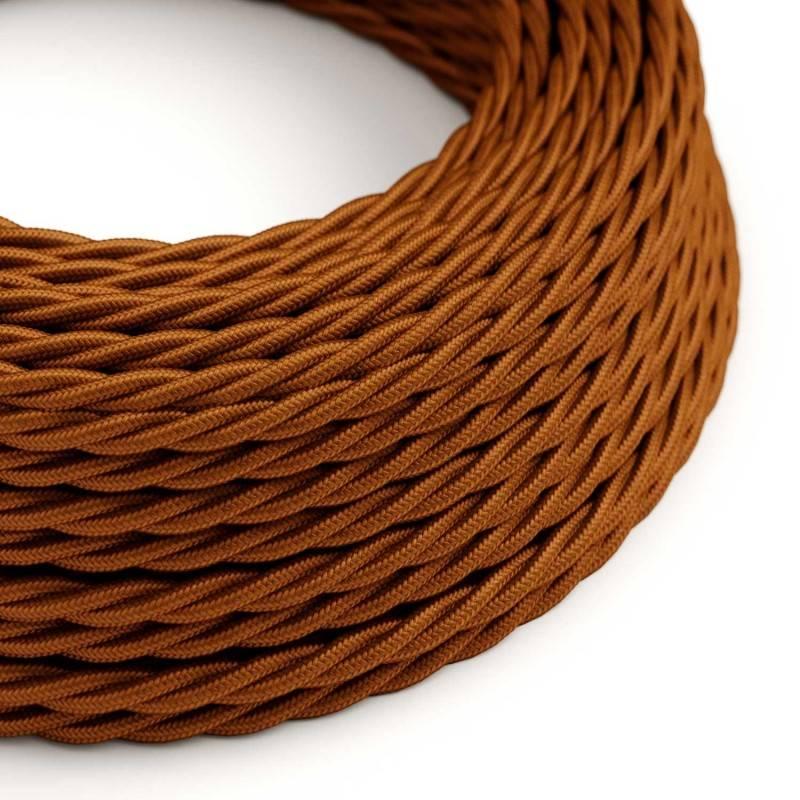 Textilkabel geflochten, whiskey mit Seideneffekt, TM22