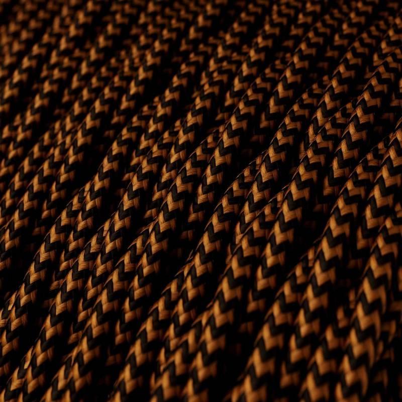 Textilkabel geflochten, Pixel whiskey mit Seideneffekt, TZ22
