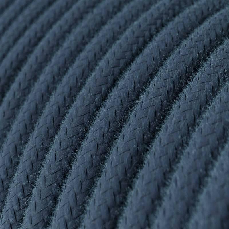 Textilkabel rund, steingrau Baumwolle, RC30