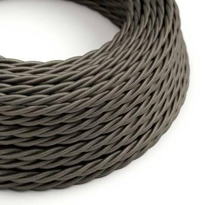 Textilkabel geflochten, dunkelgrau mit Seideneffekt, TM26