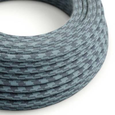 Textilkabel rund, ocean steinfarben bifarbig Baumwolle, RP25