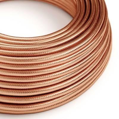 Textilkabel rund, Kupfer/Kupferrot