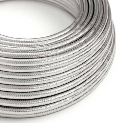 Textilkabel rund, Kupfer/Silberfarben