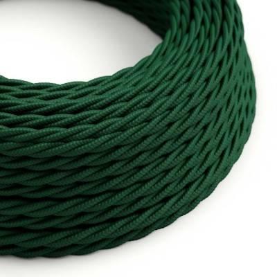 Textilkabel geflochten, tannengrün mit Seideneffekt, TM21
