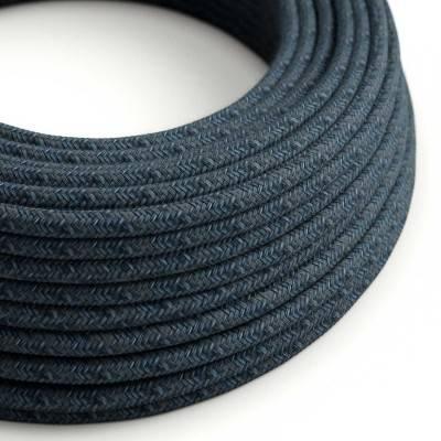 Textilkabe rund, mirage blau Baumwolle, RX10