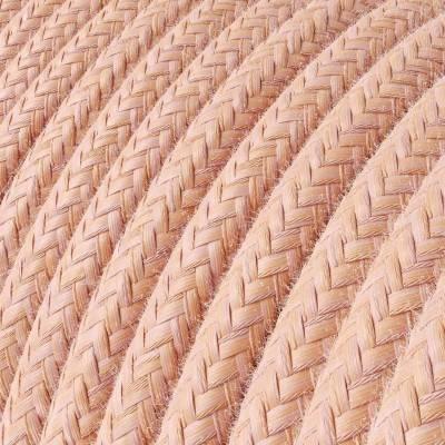 Textilkabe rund, Lachs Baumwolle, RX13