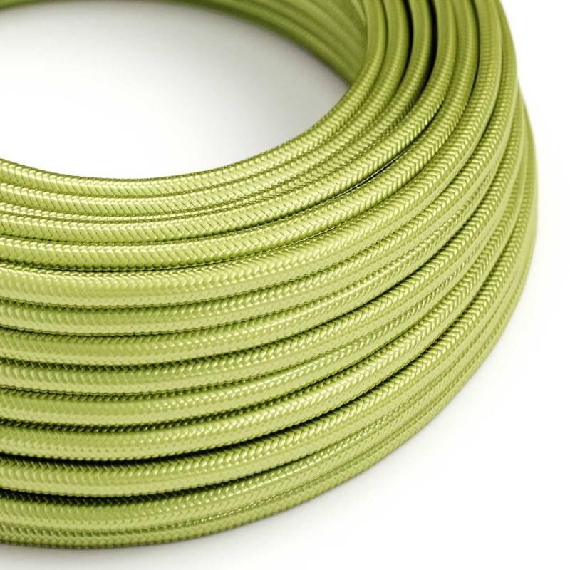 Textilkabel rund, farbe Kiwi mit Seideneffekt, RM32