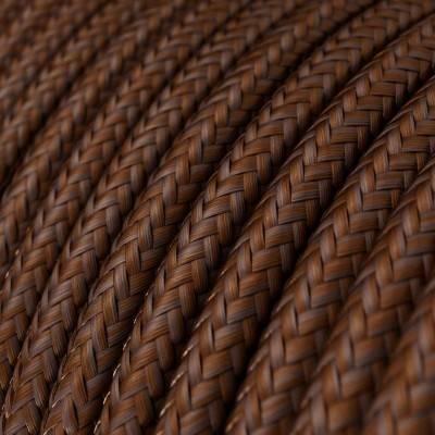 Textilkabel rund, farbe Rost mit Seideneffekt, RM36