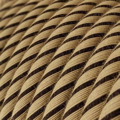 Rundes, Vertigo-Textilkabel aus Tabak-Jute und Baumwolle ERD21