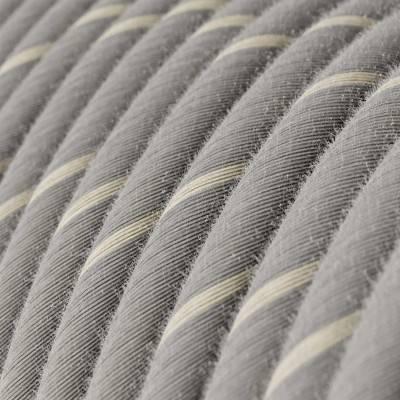 Rundes, Vertigo-Textilkabel - Farbe Eierlikör aus Leinen und Baumwolle ERD22