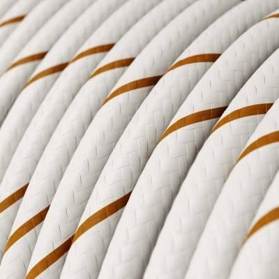 Rundes, Vertigo-Textilkabel mit HD Effekt, Farbe: Bier, Faden: Bierschaum ERM43