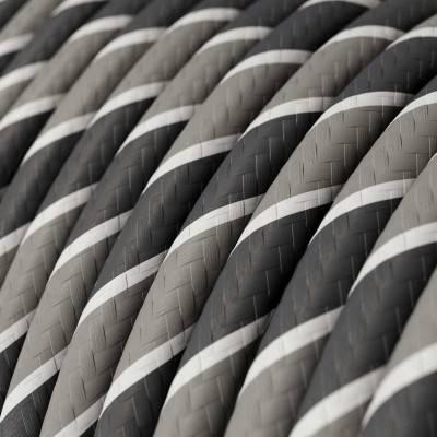 Rundes, Vertigo-Textilkabel mit HD Effekt in der Farbe Ironman-Design ERM44