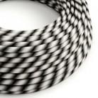 Rundes, Vertigo-Textilkabel mit HD Effekt in Mr Grey-Optik ERM63
