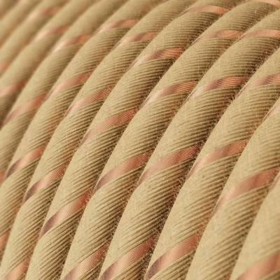 Rundes, Vertigo-Textilkabel aus Jute mit Kupferfaden ERR04