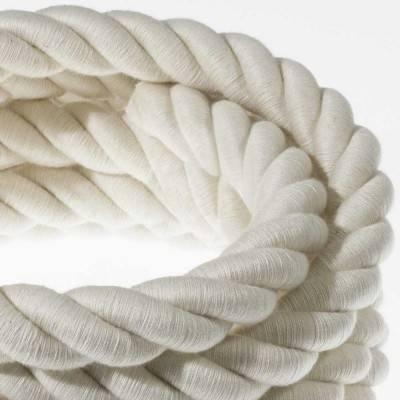 Elektrisches Tauseil 2XL 3x0,75 aus grober Baumwolle. Durchmesser 24 mm