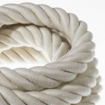 Elektrisches Tauseil 3XL 3x0,75 aus grober Baumwolle. Durchmesser 30 mm