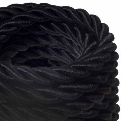 Elektrisches Tauseil 2XL 3x0,75 schwarz Glanz. Durchmesser 24 mm