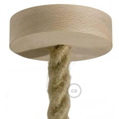 Lampenbaldachin Kit aus Holz für 2XL-Seilkabel