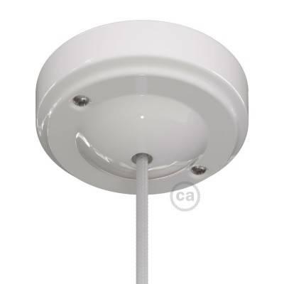 Minimalistischer Lampenbalachin Kit aus Porzellan