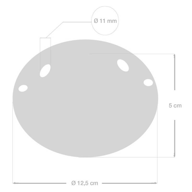 2-Loch-Lampenbaldachin Kit aus Keramik