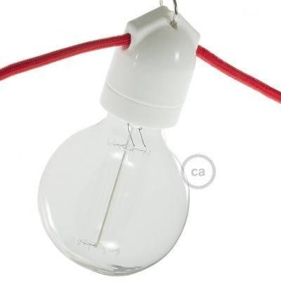E27-Lampenfassungs-Kit mit Doppelanschluss aus Porzellan