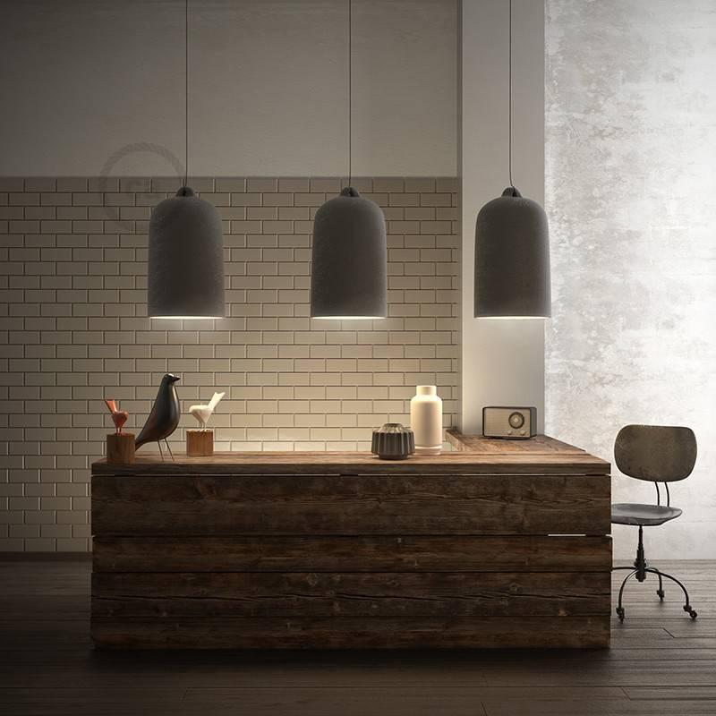 Glockenförmiger Lampenschirm XL aus Keramik zum Aufhängen - Made in Italy