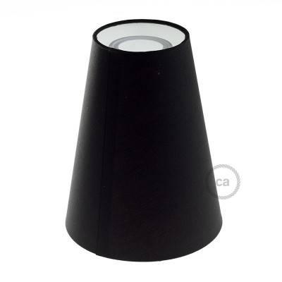 Kegelförmiger Lampenschirm aus Stoff mit E27-Fassung, 16 cm Durchmesser, 20 cm Höhe - Made in Italy