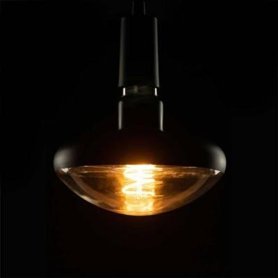 LED-Glühbirne Pilz schwarz E27 12W dimmbar 2200K