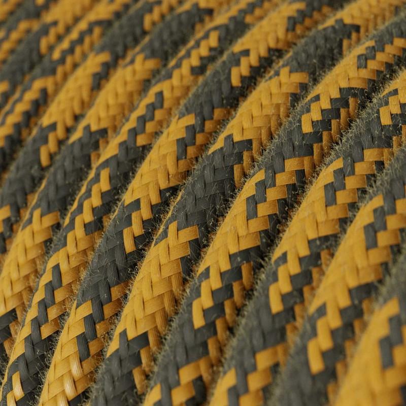 Pendelleuchte inklusive Textilkabel und Leder-Zubehör - Made in Italy