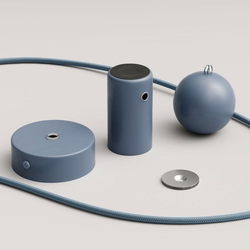 Magnetico®-Pendelleuchte inklusive Textilkabel und anpassbarer magnetischer Lampenfassung - Made in Italy