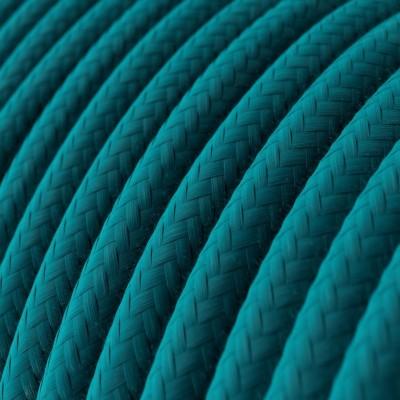 Rundes Textilkabel in Himmelblau aus Baumwolle, RC21