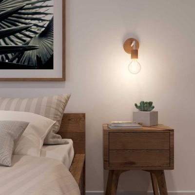 Fermaluce Wood aus minimalistisch anmutendem Holz mit gebogenes Rohr