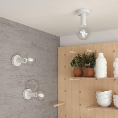 Fermaluce Wood M, die Leuchte aus lackiert Holz für Wand und Decke