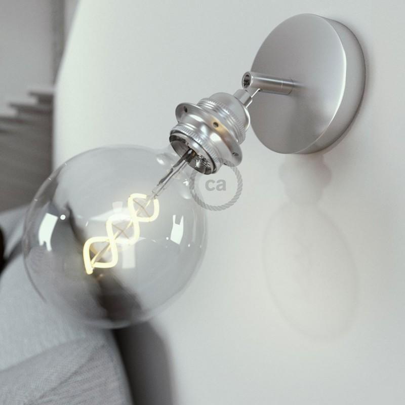 Fermaluce Metal 90°, um 90° Grad verstellbar, mit E27-Gewinde-Lampenfassung, Wand- und Deckenleuchte
